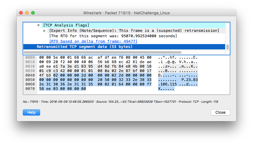 Wireshark - BillGates packet